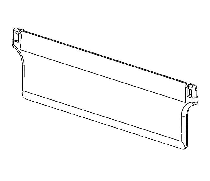 Dolní závaží vertikální žaluzie 127mm